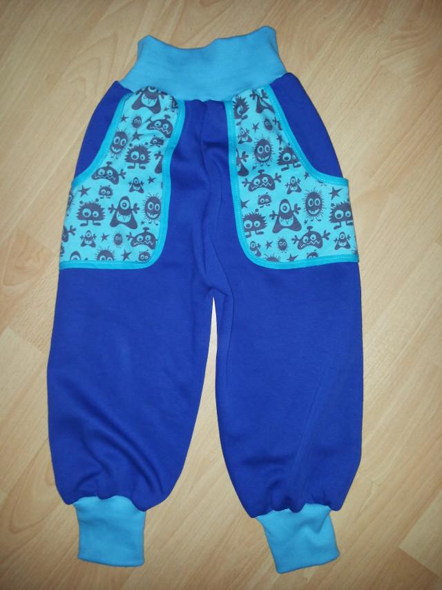 Pumphose blaue Monster